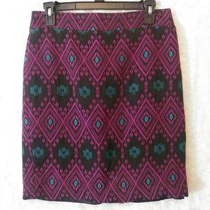 Ann Taylor Diamond Print Skirt